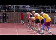 Inspiring 100-Meter Dash for Athletes Near 100 Years Old