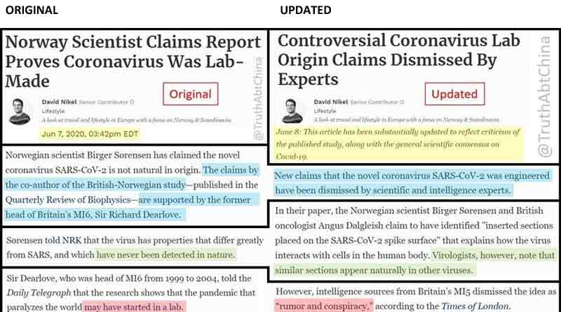 Forbes Caught in Blatant Censoring Act