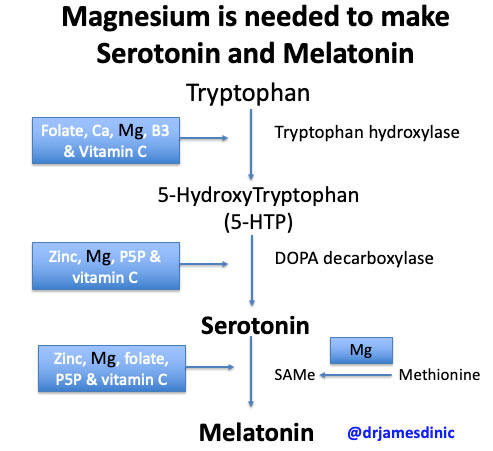 magnesium for serotonin and melatonin