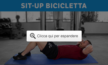 Sit-up bicicletta