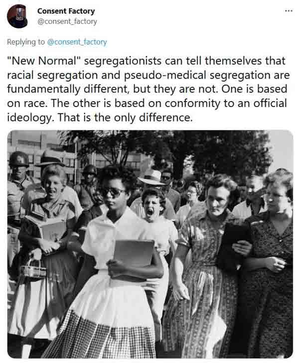 Consent Factory's segregation tweet