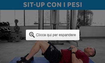 Sit-up con i pesi