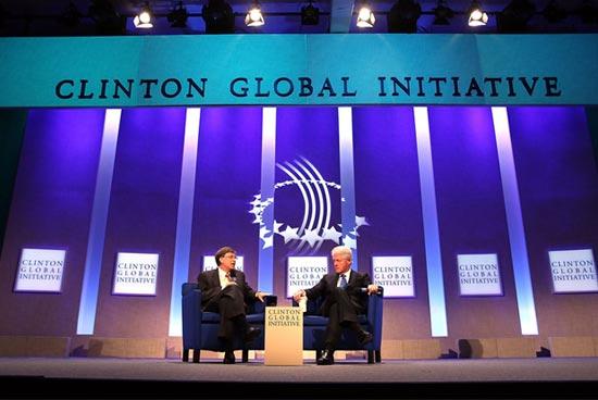 Bill Gates and Bill Clinton