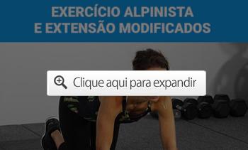 Exercício alpinista e extensão modificados