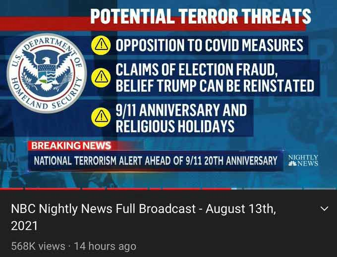 Potential terror threats
