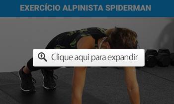 exercício alpinista spiderman
