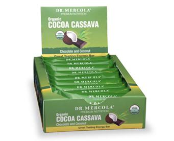 Organic Cocoa Cassava Bars- 1 Box