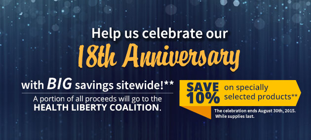 18th Anniversary Sale