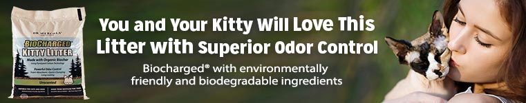 Introducing BioCharged Kitty Litter