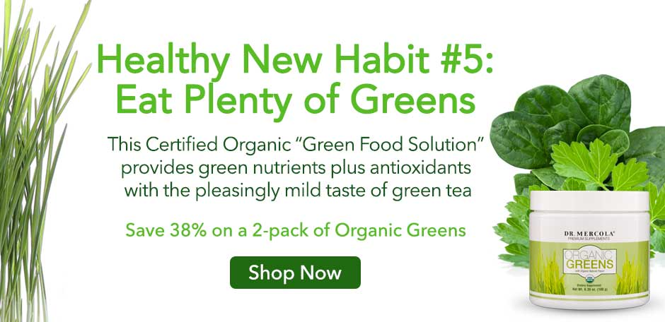 Organic Greens Offer Desktop