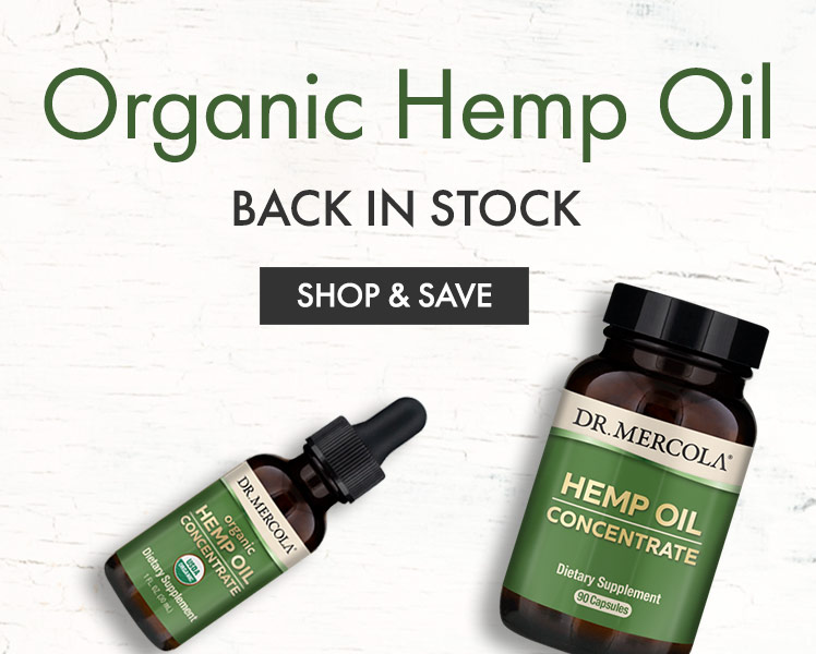 Organic Hemp Oil Back In Stock
