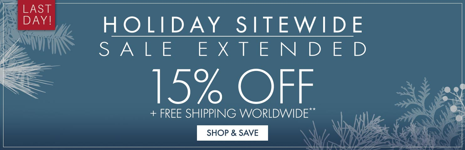 Get 15% Off on Holiday Sale