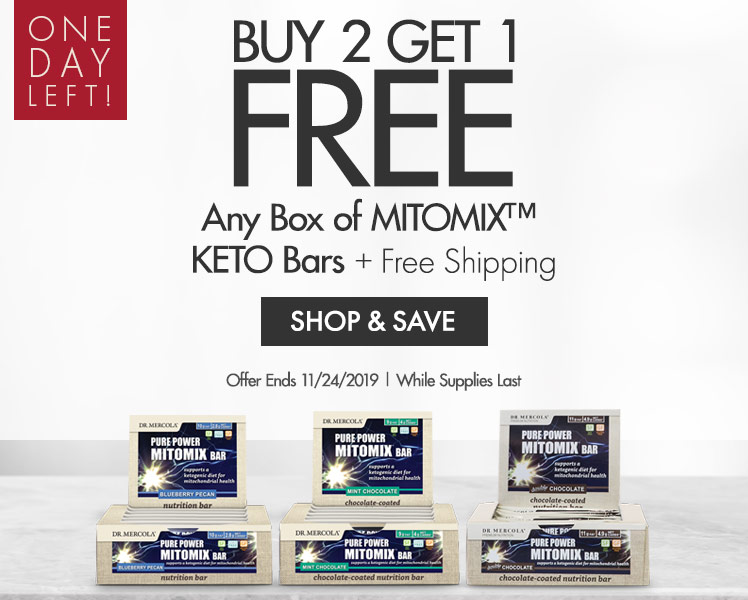 Get Buy Two Get One Free on Any Box of MITOMIX™ KETO Bars