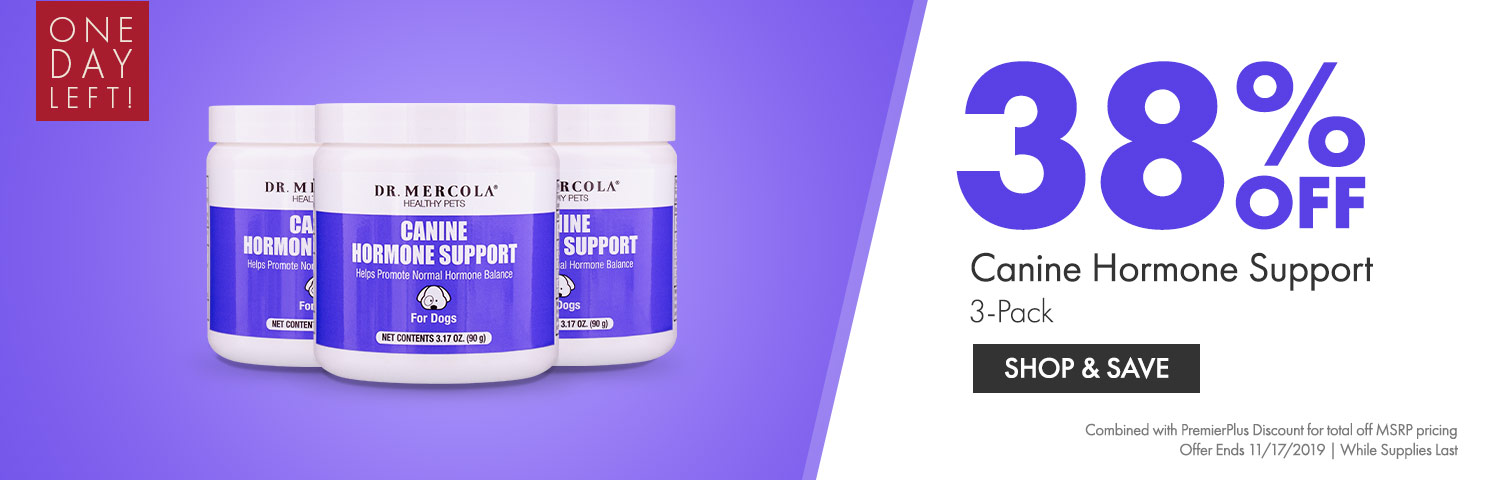 Get 38% Off on Canine Hormone Support 3-Pack