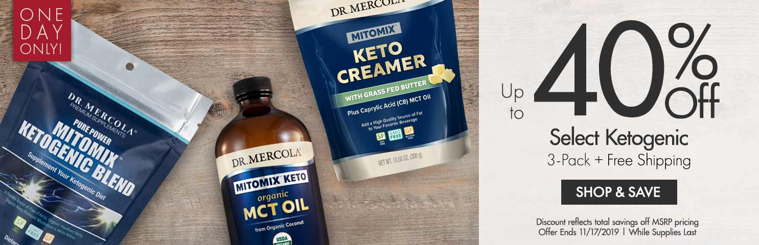 Get Up to 40% Off on Select Ketogenic 3-Pack