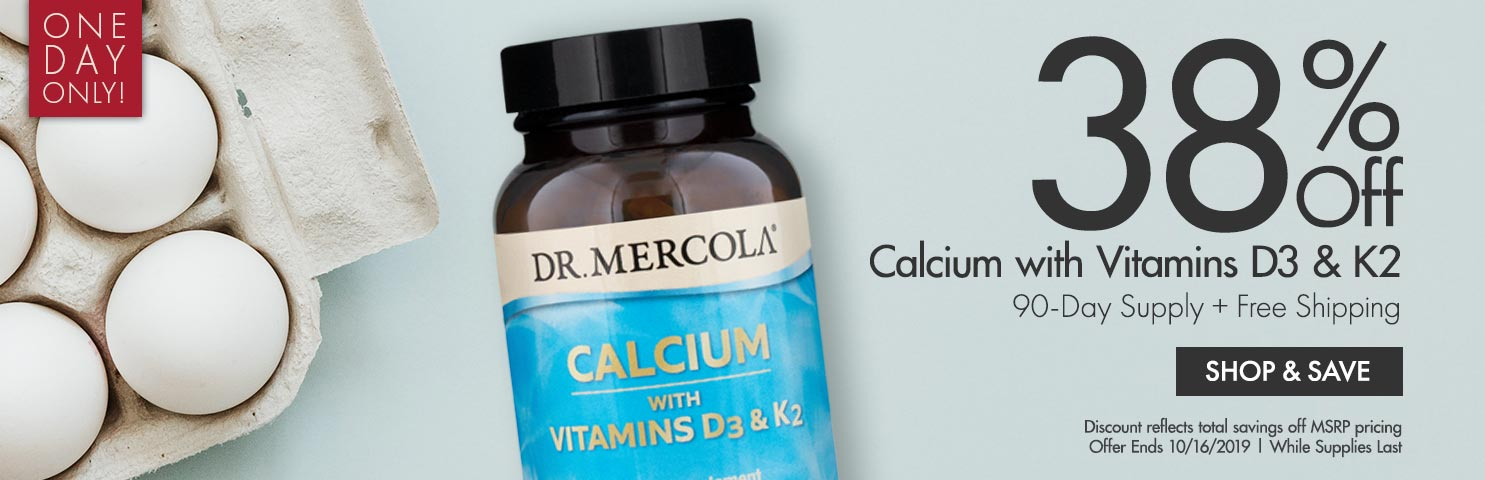 Get 38% Off on Calcium with Vitamins D3 & K2 90-Day Supply