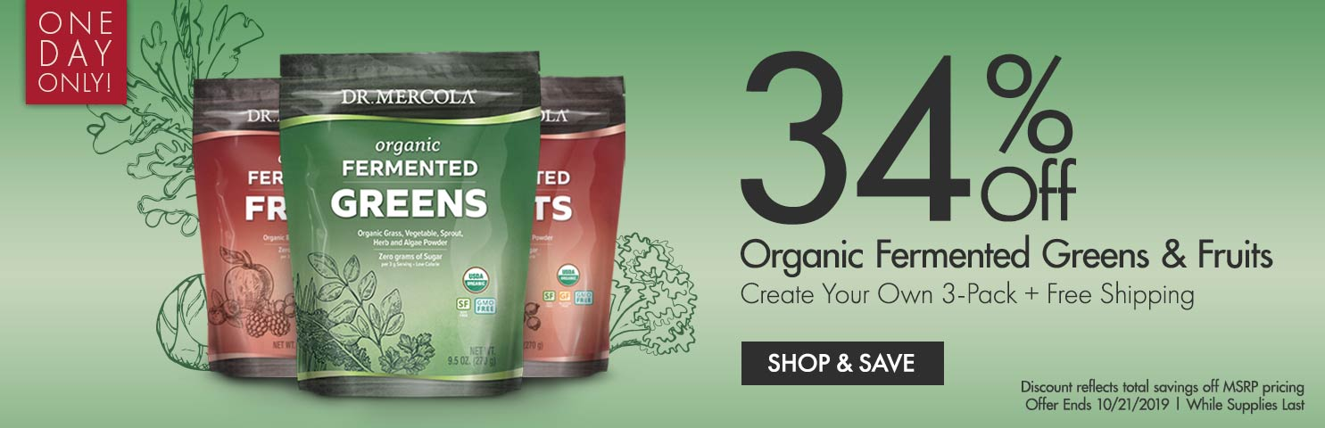Get 34% Off on Organic Fermented Greens & Fruits Create Your Own 3-Pack