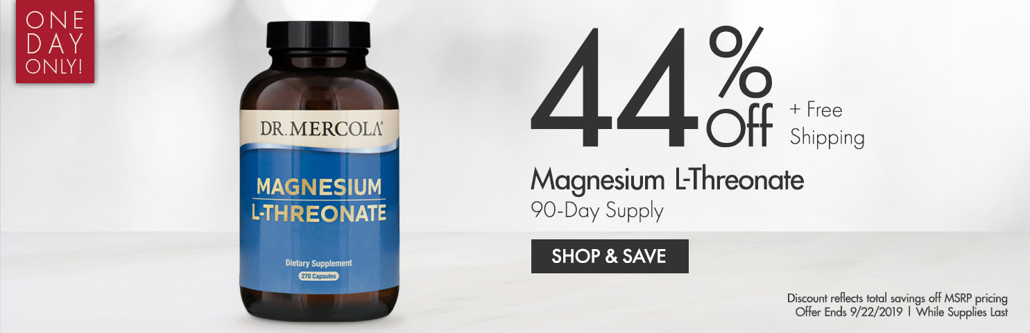 44% Off on Magnesium L-Theronate 90-Day Supply