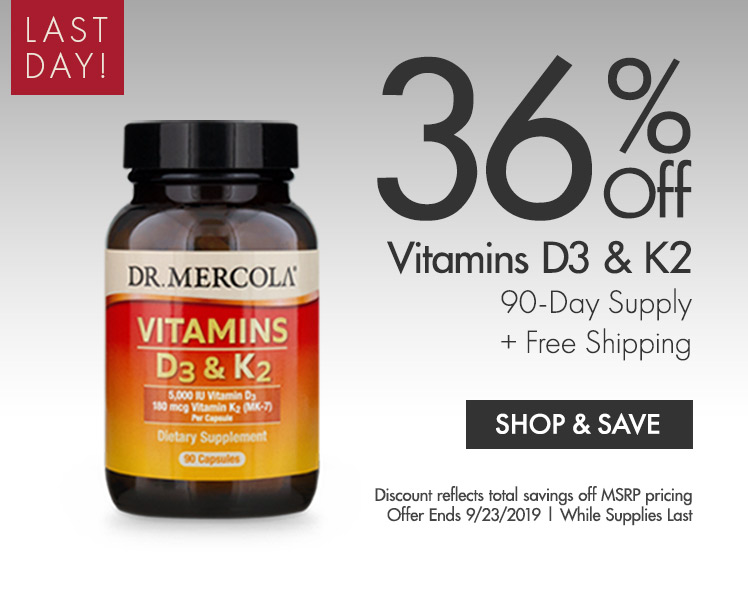 Get up to 36% on Vitamin D3 and K2 90-Day Supply