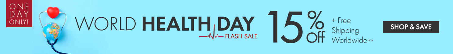 Get 15% Off on World Health Day Flash Sale