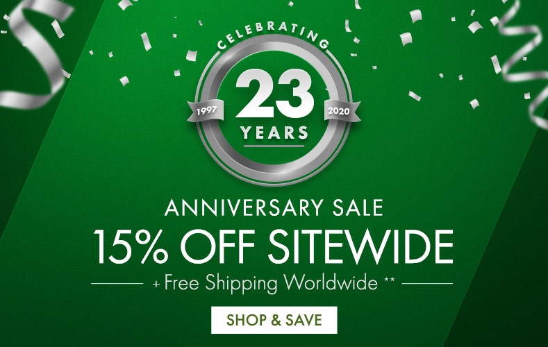 Get Anniversary Sale 15% Off Sitewide