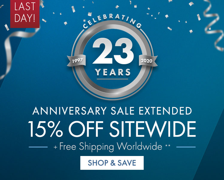 Get 15% Off on Anniversary Sale Extended Sitewide
