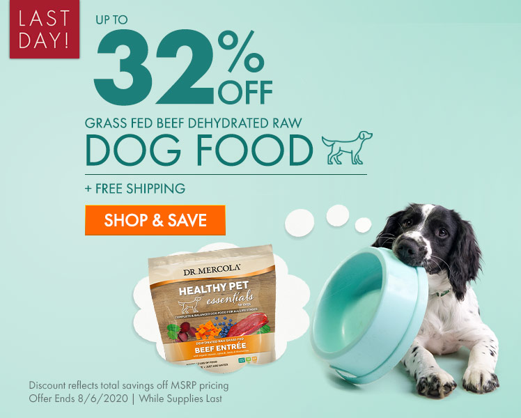 Get Up to 32% Off Grass Fed Beef Dehydrated Raw Dog Food