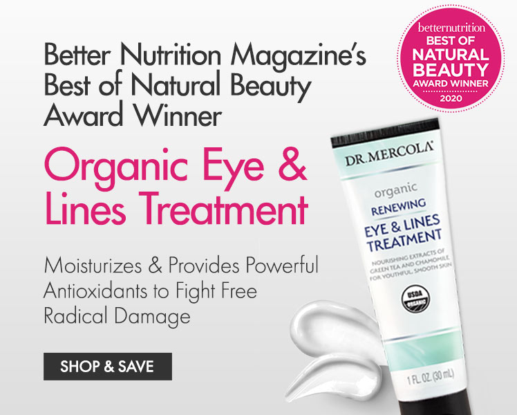 Betternutrition Best of Natural Beauty Award Winner, Organic Eye & Lines Treatment
