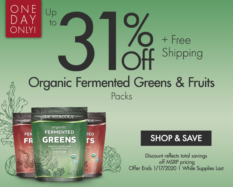 Up to 31% Off Organic Fermented Greens & Fruits Packs