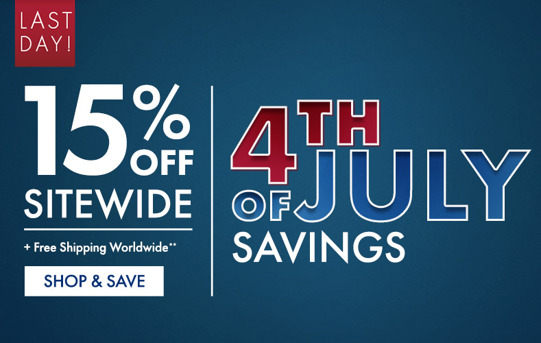 Get 15% Off on 4th of July Sale