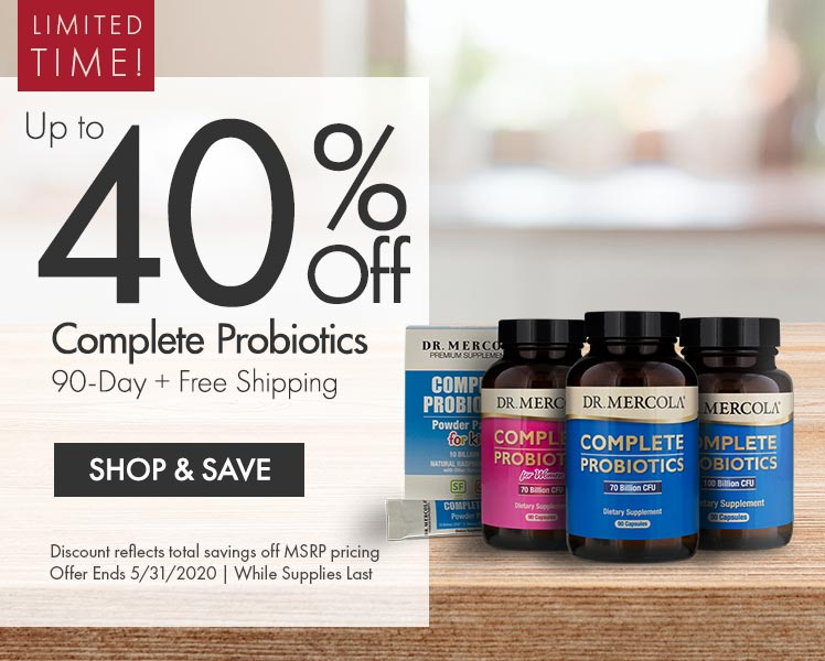 Get Up to 40% Off Complete Probiotics 90-Day