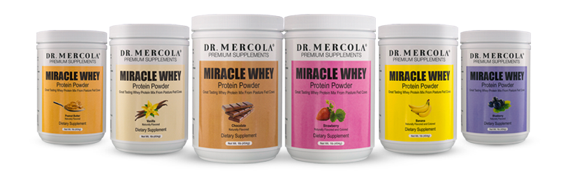 miracle whey 6-pack with blender bottle