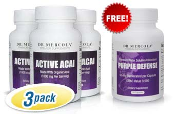 Active Acai 3-Pack with Free Purple Defense