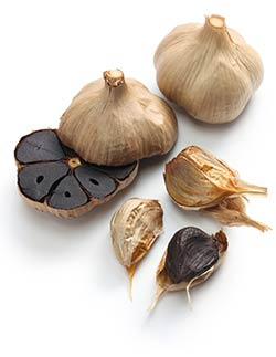 black garlic puree