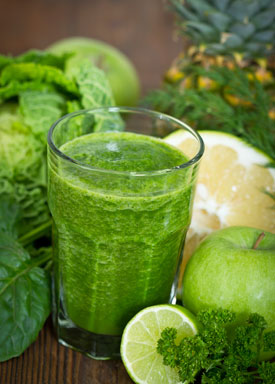 Juicing Raw Vegetables