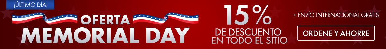 Obtenga 20% de descuento en la venta de Memorial Day en todo el sitio