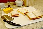 Preparar sándwich de queso