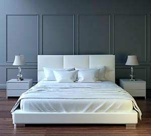 clean white bed