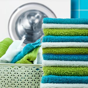 colorful conventional towels