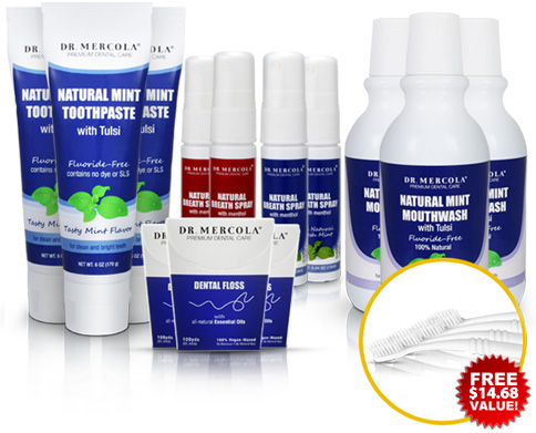 Dr. Mercola's Healthy Dental Family Kit