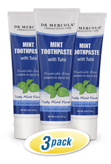 Dr. Mercola's Natural Toothpaste 3-pack