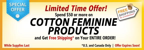 Feminine Care Special Offer!