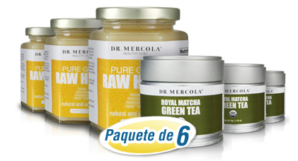 Matcha Green Tea and Raw Honey Combo 6-Pack