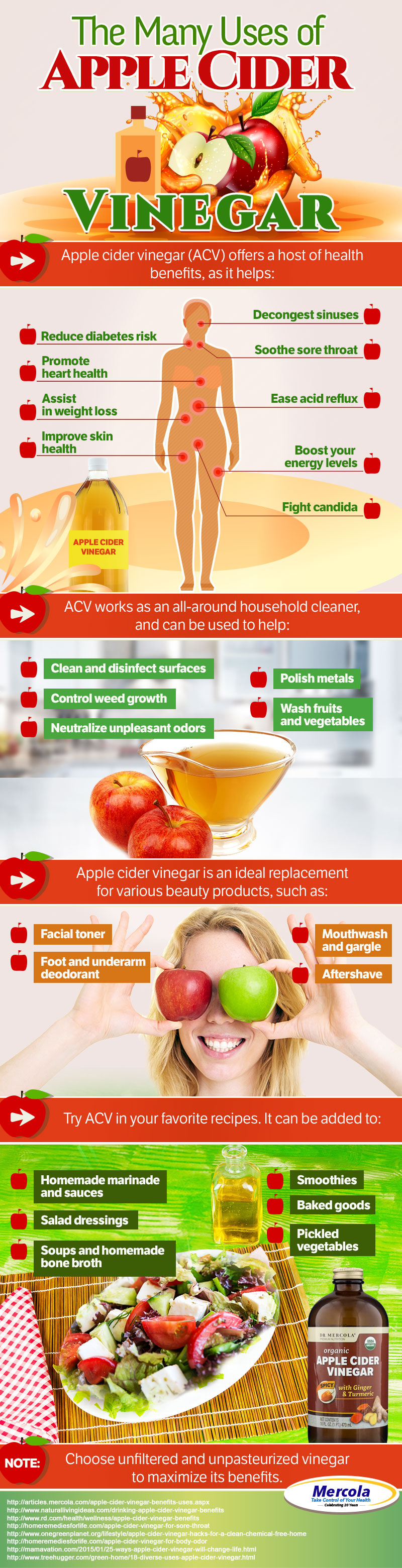 Apple Cider Vinegar Uses Infographic
