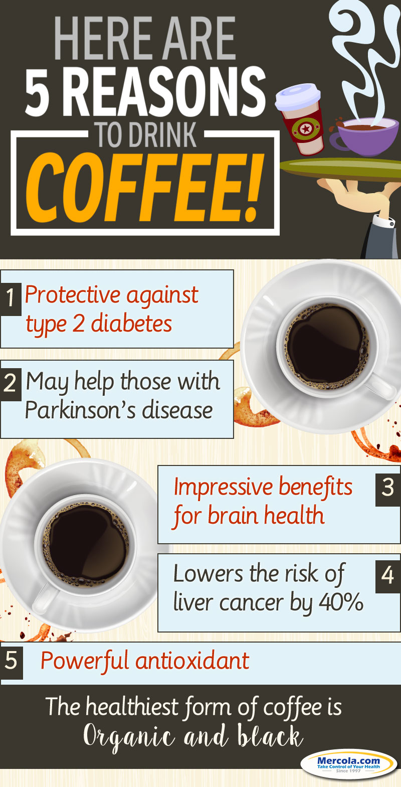 Drinking Coffee Benefits Infographic