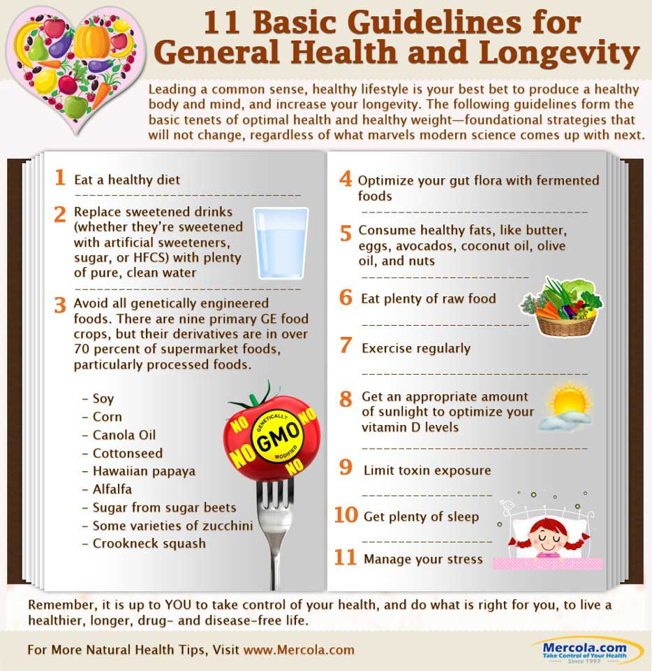 general health guidelines