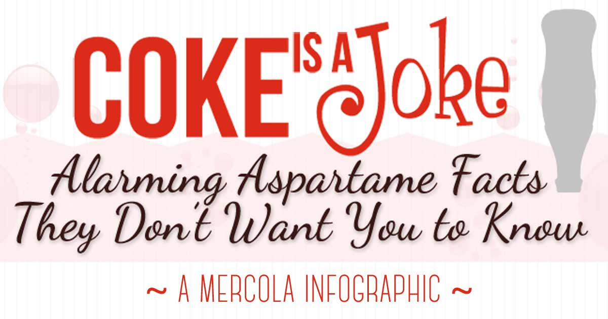 Coke Is a Joke: Alarming Aspartame Facts Infographic