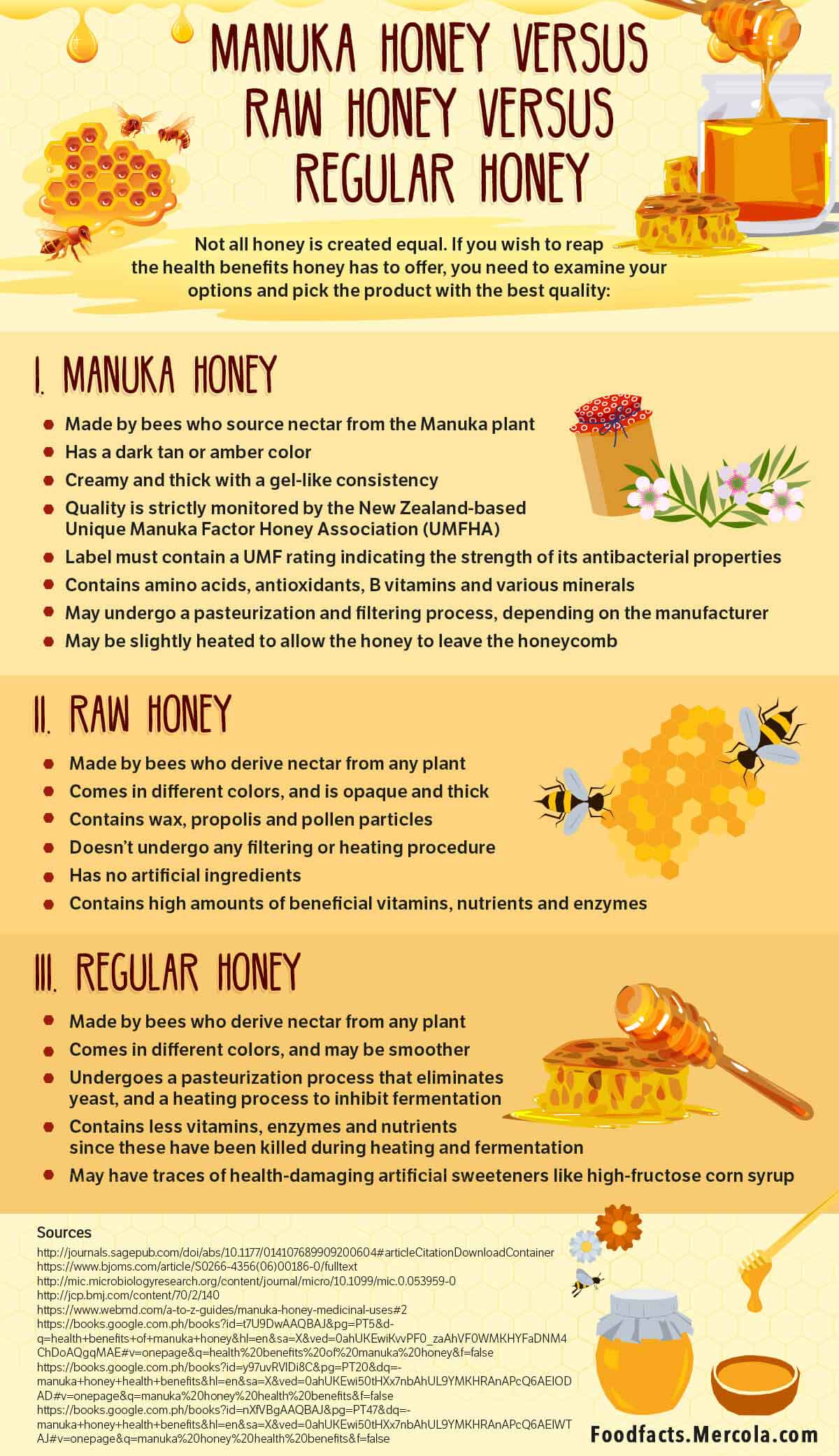 comparing manuka honey versus raw honey versus regular honey