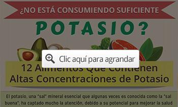 12 alimentos de potasio