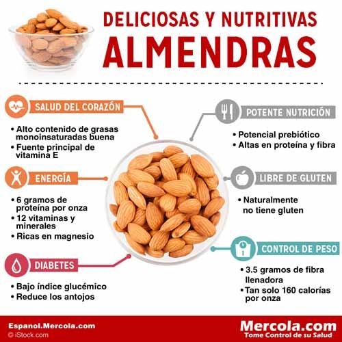 Nutricion de las Almendras